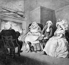 'The Country Vicar's Fire Side', 1781. Artist: E Williams