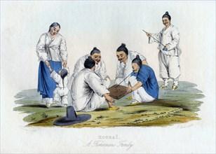 'Koorai, a Fisherman's Family', 1848.Artist: J Bull