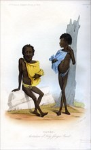 'Patet, Australians of King George's Sound', 1848.Artist: J Bull