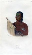 'Nah-Pope (The Soup), A Sac Warrior', 1848.Artist: Harris