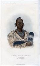 'Muck-a-tah-mish-o-kah-kaik, The Black Hawk, A Sac Chief', 1848.Artist: Harris