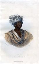 'Tuch-ee, A Cherokee War Chief', 1848.Artist: Harris