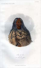'Sha-ko-ka, The Mint, A Mandan Girl', 1848.Artist: Harris