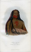 'Mah-to-toh-pa, (The Four Bears), 2nd Chief of the Mandans', 1848.Artist: Harris