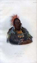 'Wah-ro-nee-sah', The Surrounder, An Otoe Chief', 1848.Artist: Harris