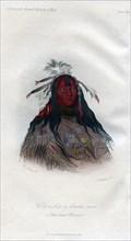 'Heo-a-h'co-a-h'-cotes-min, a Flat head Warrior', 1848.Artist: Harris