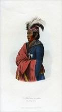 'Not-een-a-akm, The Strong Wind', the interpreter, 1848. Artist: Harris