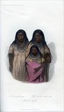 Native American women and child, 1848. Artist: Harris