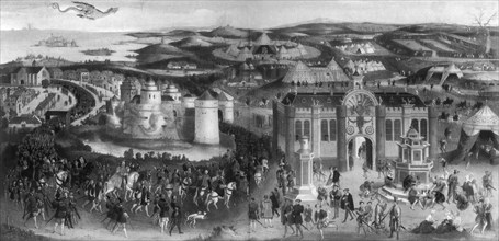 Meeting of Henry VIII and Francis I, at The Field of Cloth of Gold, 1520', (1902). Artist: Unknown