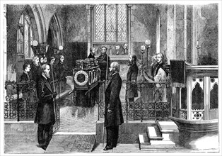 The funeral of Benjamin Disraeli (1804-1881), British prime minister, late 19th century. Artist: Unknown