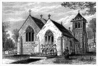 St Michael's Church and the grave of Benjamin Disraeli (1804-1881), late 19th century. Artist: Unknown