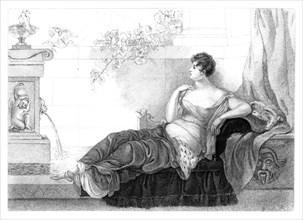 Mary Robinson (1757-1800), English poet and novelist, 1830.Artist: Henry Adlard