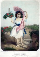 Charming flowers, c19th century.Artist: F Silber