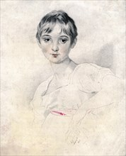 'Portrait of a girl', 1813. Artist: Unknown