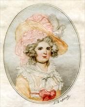 'Portrait of a woman', 18th century.Artist: Louis Dupont