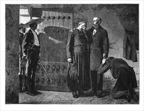 Last moments of the Emperor Maximilian, 1867, (late 19th century). Artist: Unknown
