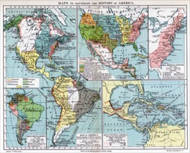 Maps to illustrate the history of America, 1901. Artist: Unknown