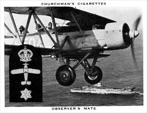 Observer's Mate, 1937.Artist: WA & AC Churchman