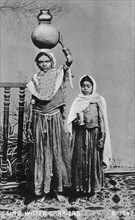 Sindh water carriers, India, 1917. Artist: Unknown