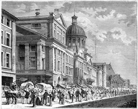 Bonsecours, Montreal, Canada, 19th century.Artist: Deroy