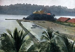 Port Blair, capital of the Andaman and Nicobar Islands, Indian Ocean, c1890. Artist: Gillot