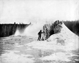 Crater of the Giant Geyser, Yellowstone National Park, USA, 1893.Artist: John L Stoddard