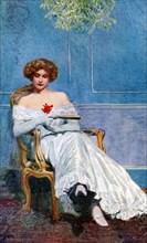 'Under the Mistletoe', 1908-1909.Artist: Edward Charles Clifford