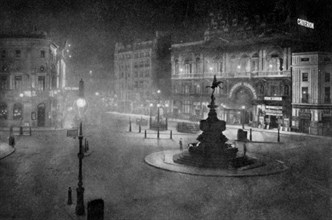 Piccadilly Circus, London, at night, 1908-1909.Artist: Charles F Borup