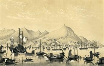 'Victoria Town, Hong Kong Island', 1847. Artist: Unknown