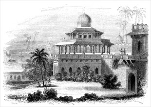 'Chalees Satoon, or the Pavilion of the Forty Pillars', 1847. Artist: Giles