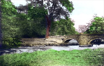 Bridge at Haddon Hall stately home, Derbyshire, 1926.Artist: Cavenders Ltd