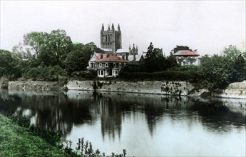 Hereford Cathedral, 1926.Artist: Cavenders Ltd