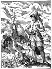 Miner, 16th century (1849).Artist: Jost Amman