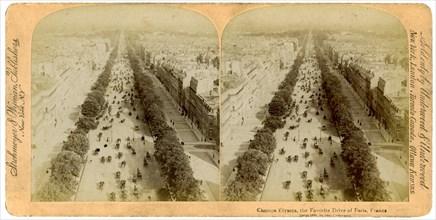 The Champs Elysees, Paris, France, 1894.Artist: Underwood & Underwood