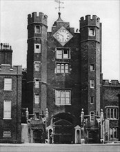 Brick gatehouse for a royal hunting lodge in St James's, London, 1926-1927.Artist: McLeish