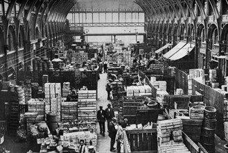 Fruit department, Covent Garden, London, 1926-1927. Artist: Unknown