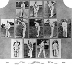 The England cricket team of 1912. Artist: Unknown