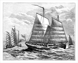 Chinese boats in the Canton river, 19th century. Artist: Unknown