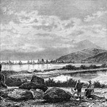 'Hong Kong, view from Kowlun', c1890. Artist: Unknown