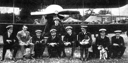 Commander Samson, Royal Navy Flying Corps, First World War, 1914. Artist: Unknown