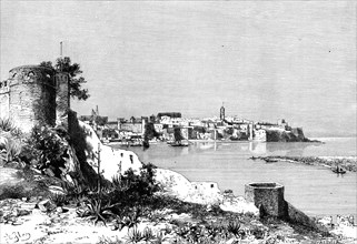 Rabat and the mouth of the Bu-Regrag river, Morocco, 1895.Artist: Meunier