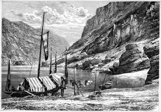 The Upper Yangtse-Kiang, China, 1895.Artist: Weber