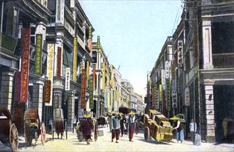 Queens Road Central, Hong Kong, China, c1900s. Artist: Unknown