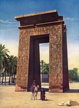 Propylon of the third Ptolemy at Karnak, Egypt, 1933-1934. Artist: Unknown
