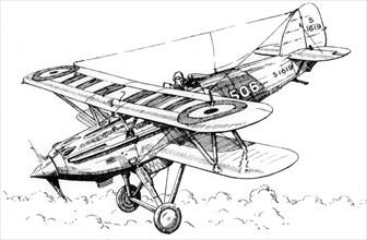 A Hawker Nimrod aeroplane, c1930s.Artist: James Hay Stevens
