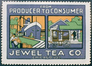 Label advertising the Jewel Tea Co of Chicago, USA. Artist: Unknown