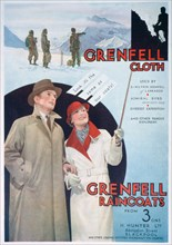 Advert for Grenfell cloth and raincoats, 1937. Artist: Unknown
