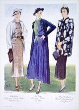 Fashion illustration, 1935. Artist: Unknown