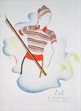 Lisle by Allen Solly, fashion advert, 1937. Artist: Unknown