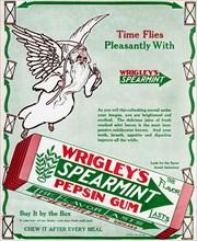 Advert for Wrigley's Spearmint Pepsin Gum, 1913. Artist: Unknown